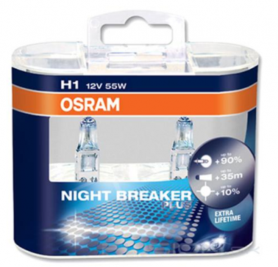 Žiarovky H1 OSRAM NIGHT BREAKER PLUS